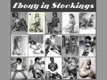 Ebony in Stockings